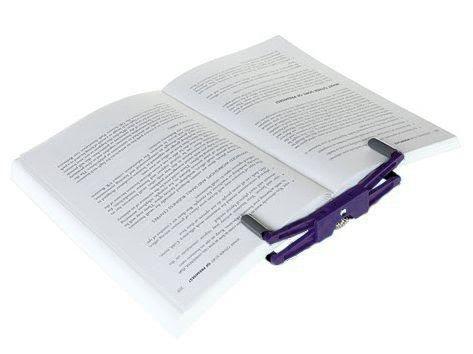 FlipKlip–Tragbarer Buchhalter, Seitenhalter, Buchklammer, Kochbuch Ständerhalter dunkelviolett