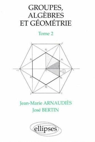 Groupes, algèbres et géométrie, tome 2