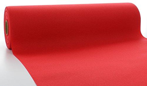 Sovie HORECA Linclass® Airlaid Tischläufer 40 cm x 24 m | Tischdecken-Rolle stoffähnlich | praktische Einmal-Tischdecke für Hochzeit oder Partys | Rot
