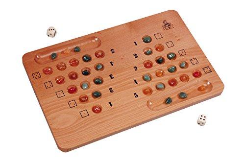 Steinchendieb mit Halbedelsteine, Strategiespiel aus Holz