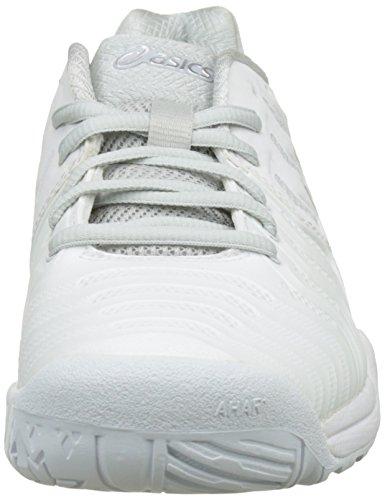 Asics Gel-Resolution 7, Scarpe da Ginnastica Donna Bianco (White/Silver)