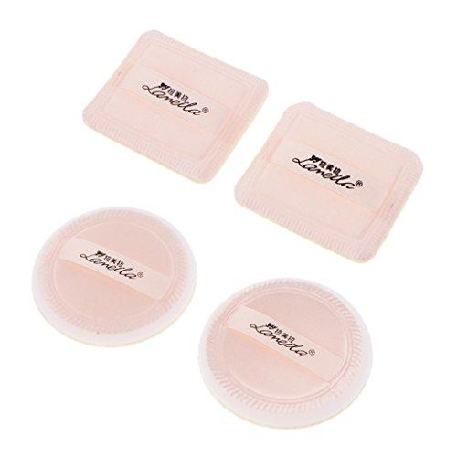 D DOLITY 4pcs Humide et Sec à Double Usage de Maquillage Éponge Coussin d'Air Houppette pour Poudre de Talc BB Minerals-water CC BB Crème Teint Liquide