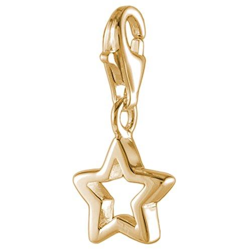 Melina Damen-Charm Bettelarmband Anhänger Stern vergoldet Gelbgold 925 Silber - 1801626