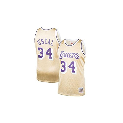 Mitchell & Ness NBA Los Angeles Lakers Shaquille O'Neal 1996-97 Swingman Jersey Gold Small