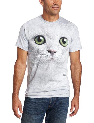 T-Shirt Green Eyes Face grau | XL