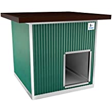 TRDC Caseta Aislante para Perro XXL con Techo Aumentado para el Exterior (Smeraldo)