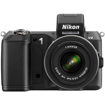 Nikon 1 V2 Systemkamera (14 Megapixel, 7,5 cm (3 Zoll) Display, Hybrid-Autofokus, superhochauflösender elektronischer Sucher, Full-HD Video) schwarz Kit inkl. 10-30 mm VR Objektiv