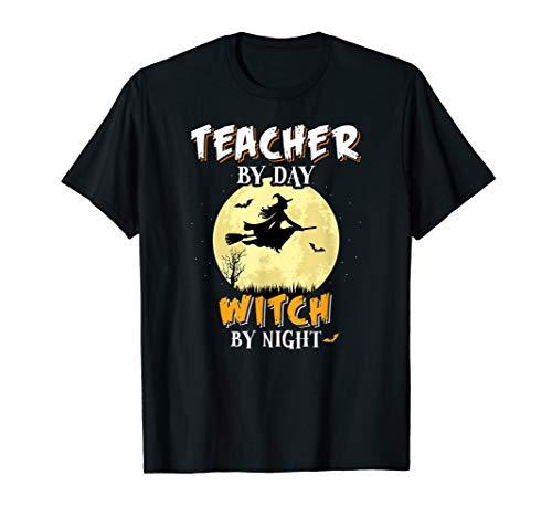 Lehrer Am Tag Hexa Bei Nacht T-Shirt Schule Lustig T-Shirt