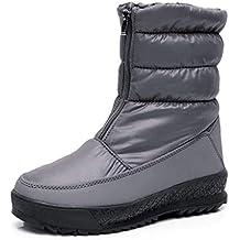 Botas de Nieve para Mujer Invierno Calentar Impermeable Anti-Deslizante  Forrado de Piel Botines Zapatos 6d2281650d9b6