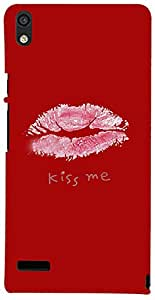 PrintVisa Hot Lips Kiss Case Cover for Huawei Ascend P6