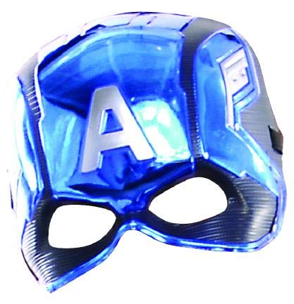Rubie 's 39217NS Marvel Avengers Captain America Deluxe Kind 's Mask Kostüm Zubehör, Jungen, one size
