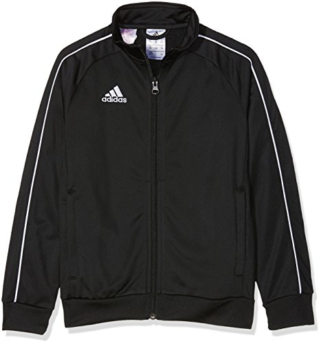 Adidas CE9052 Core 18 Polyester Jacket - Black White  7 - 8 Years