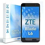 EAZY CASE 1x Panzerglas Bildschirmschutz 9H Härte für ZTE Blade L6, nur 0,3 mm dick I Schutzglas aus gehärteter 2,5D Panzerglasfolie, Bildschirmschutzglas, Transparent/Kristallklar