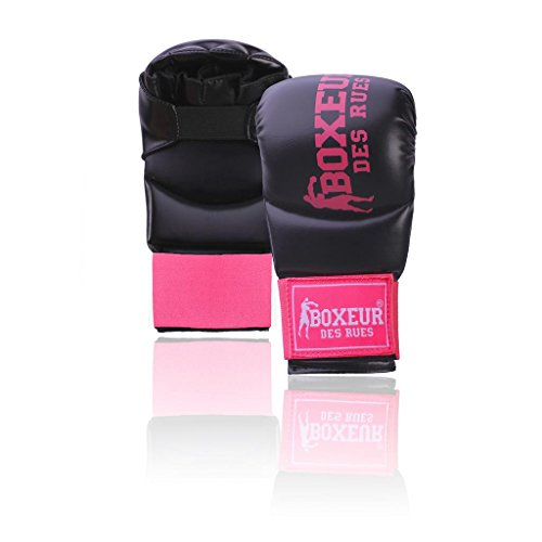 Boxeur Des Rues Serie Fight Activewear Guanti Da Karate E Fit-boxing, Unisex - Adulto, Fuxia, S
