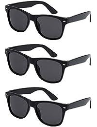 Nerd Sonnenbrille im Wayfarer Stil Retro Vintage Unisex Brille - Boolavard® TM