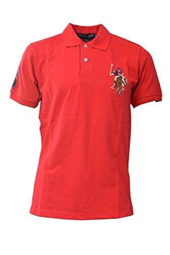 Contrasto marchio US Polo ASSN Uomo ricamata manica corta T-shirt in cotone 100%.
