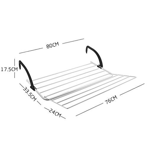 Windowsill Trockengestelle, Balkon Trockengestelle, Handtuchhalter Wäscheständer, Kühler Trockengestelle ( größe : 80cm )