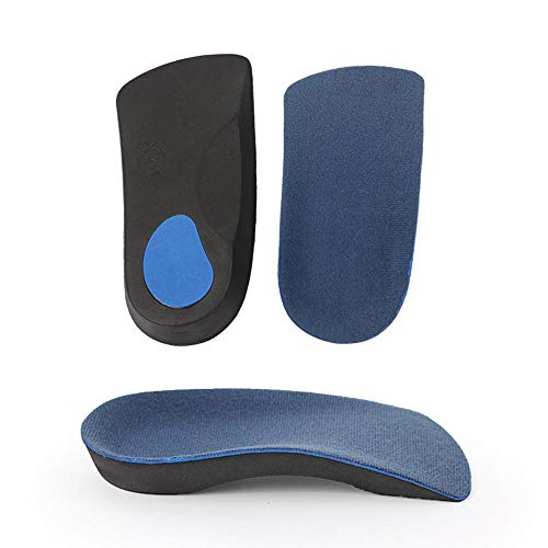 AOLVO Orthopädische Einlegesohlen für Flache Fuß, Plantarfasziitis, mit Einsätzen für Pronation, Flache Füße, Fußgewölbe, Schmerzlinderung bei Überpronation, Korrektur, Sport, atmungsaktiv, M