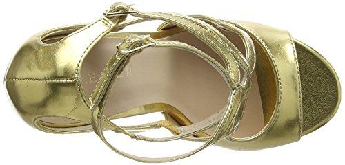 Pleaser Amuse-15 Amu15/Gmpu, Scarpe Col Tacco con Cinturino a T Donna (Gold Met Pu)