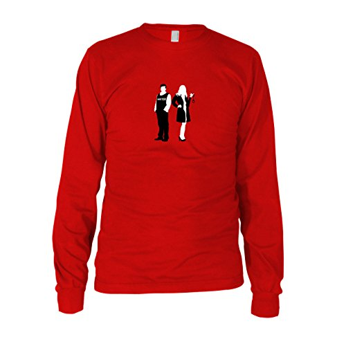 Richard and Kate - Herren Langarm T-Shirt Rot