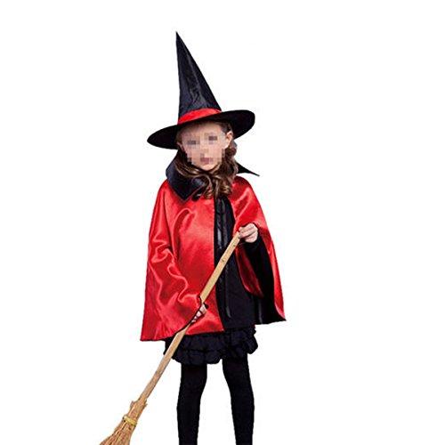 Kostüm Halloween Erwachsener Kinder Unisex Halloween Umhang Cape mit Kapuze (Weiser Mann Kostüm Diy)
