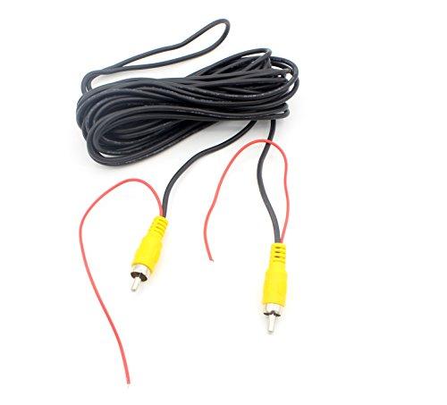 LoongGate Auto Rückfahrkamera RCA Videokabel - Rückansicht Rückfahrkamera RCA AV Farbe Video Stecker auf Stecker Adapterkabel mit Suchkabel (6m / 20ft)