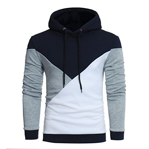 Herren Kapuzenpullover, Kavitoz Hoody Sweatshirt mit Kapuze Strickpullover Pullover Tops Outwear (M, Grau) (Spiel Sweatshirt Hoody)