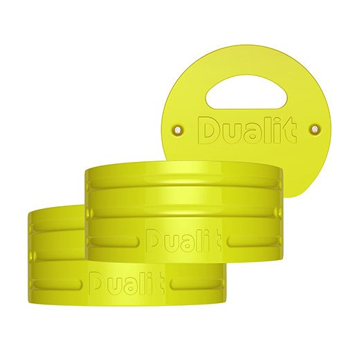 Dualit Architect Brushed Stainless Steel and Citrus Yellow Kettle