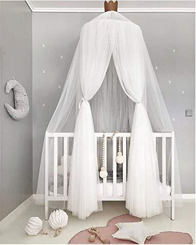 CULASIGN Baby Betthimmel Baldachin Baby Spielzimmer Schlafzimmer Ankleidezimmer Moskitonetz Prinzessin Deko Bett Höhe 240cm (Weiß)