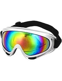 sourcingmap Unisex Colorful Lens Full Rim Skate Snowboard Cycle Goggles Eyewear