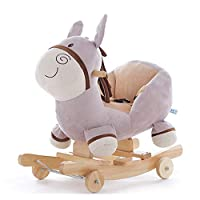 Yishelle Baby Rocking Horse Cute Little Donkey Horse Children
