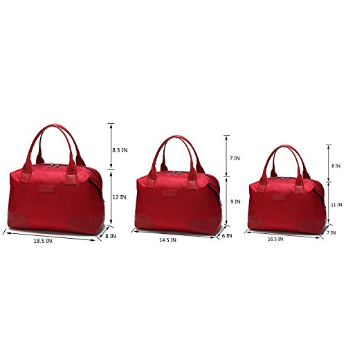 Uu famiglia Oxford impermeabile donne da viaggio Set, Bronze (nero) - UUJ706C Red