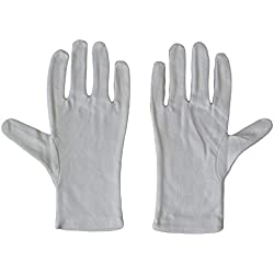 Kaavie Hommes 100% soft gants de coton blanc x 2 paires Large Photo