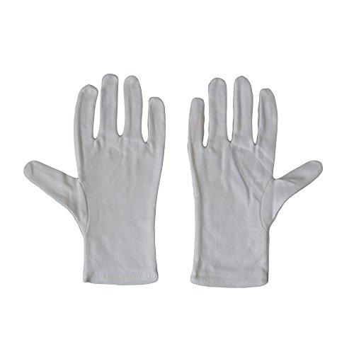 Kaavie Hommes 100% soft gants de coton blanc x 2 paires Large Photo
