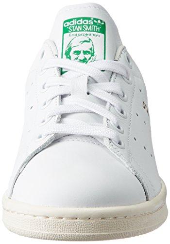 adidas Stan Smith, Baskets Mode Mixte Adulte Blanc (Footwear White/Footwear White/Green)