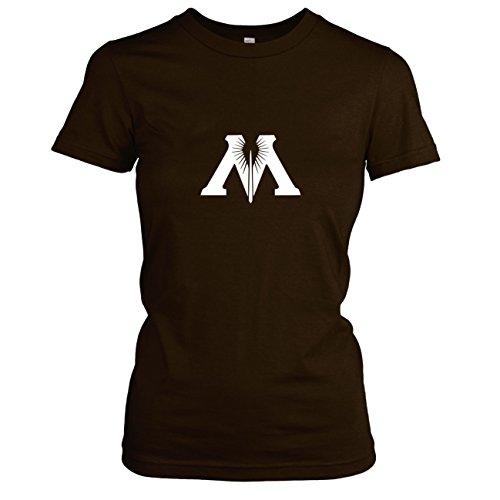 TEXLAB - Zauberministerium - Damen T-Shirt, Größe XL, braun