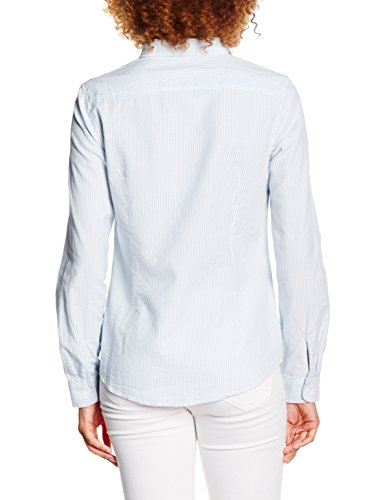 PIECES Damen Hemd Pckarmen Striped Shirt NOOS Mehrfarbig(Light Blue)