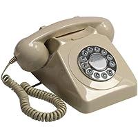 GPO 746 - Telefono a pulsanti, stile retro, con suoneria autentica, colore: avorio