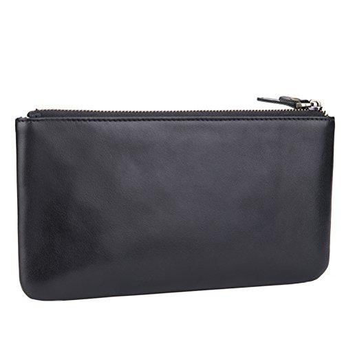 Brieftaschen Frauen für Karten - CashNox RFID Blockierung Bifold Multi Card Case Wallet mit Reißverschlusstasche (Einfache Wallet Bi-fold)