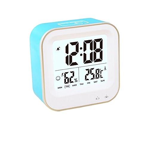 LED digitaluhr weich nachtlicht snooze alarm mit der zeit feuchte