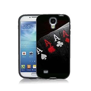 Case Schutzrahmen hülse Karte Karten Card Casino Cad01 Abdeckung für Samsung Galaxy S3mini Border Gummi Hartkunststoff Tasche Schwarz