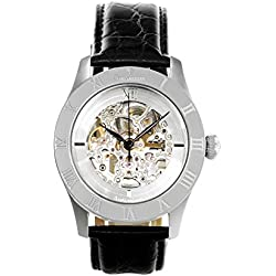 Continuum - CO15005 - wrist watch for men - automatic movement - analog display - white dial - black leather bracelet