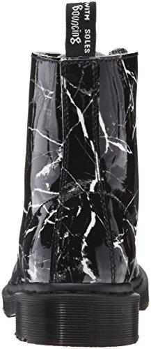 Dr Martens Donna Graphite Grigio Patent Marble Pascal Stivali Black Patent Marble