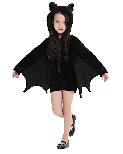 lay Fledermaus Halloween-Party Fantasie-Kostüm Fleece-Overall Halloween Kostüm M Kind (Halloween-kostüme Fantasy)