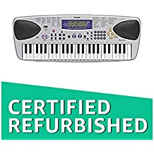 (CERTIFIED REFURBISHED) Casio MA-150XH2 Electronic Keyboard with Free Adapter (Silver)