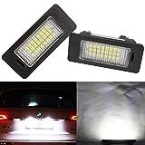 Biqing B-M-W Kennzeichenbeleuchtung LED Kennzeichen Licht Auto Nummernschildbeleuchtung Nummernschilder Licht für 1 Serie E82 E88, 3 Serie E90 E90N E91 E92 E93 M3 E46 CSL, 5 Serie E39 E60 E60N E61