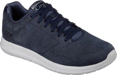 Skechers Go Walk City mantenere, Low-Top Uomo Sneakers, Uomo, Navy/Grey, 8.5 UK