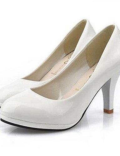 WSS 2016 Chaussures Femme-Décontracté-Noir / Rouge / Blanc-Gros Talon-Talons-Chaussures à Talons-Polyuréthane white-us5.5 / eu36 / uk3.5 / cn35