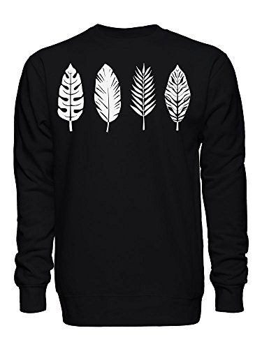 Palm Leaf Bird Feather Graphic Unisex Crew Neck Sweatshirt XX-Large
