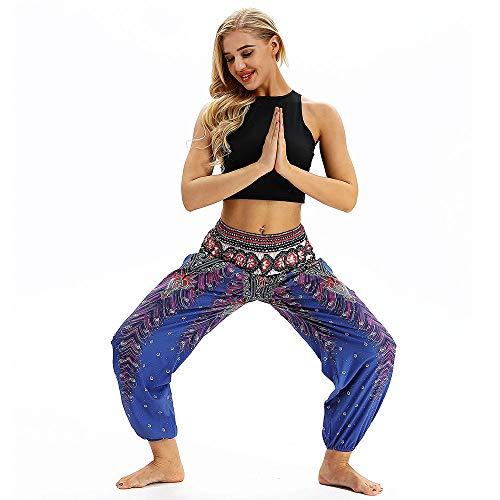 JYJM 2018 Weihnachten Damen camouflagemänner Frauen beiläufige lose Hippie Yoga Hosen Baggy Yogahose Sooraj - das Original in Bio-Baumwolle Laufhose Damen mit Tasche lang - Leggins Stretch-Hose -